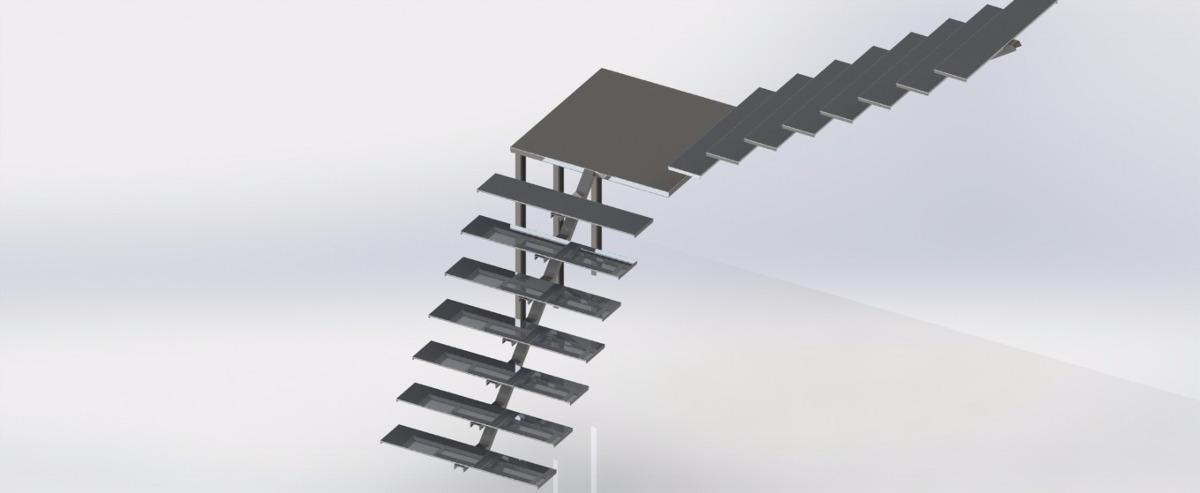 Projeto De Escada Metalica Md Projetos R 12999 Em Mercado Livre