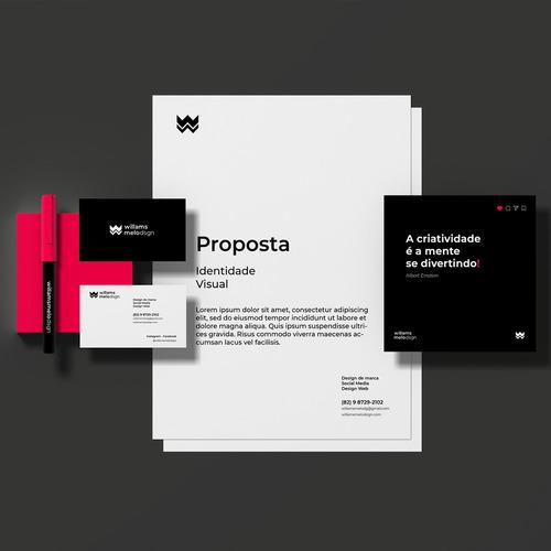 projeto de identidade visual produção de materias impressos