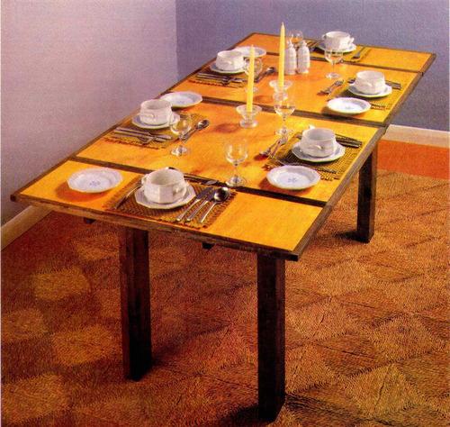 projeto de mesa expansível para 8 pessoas : em português!