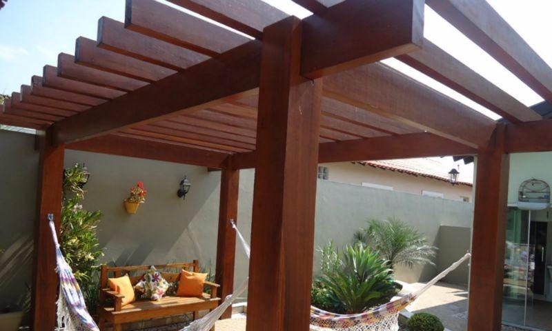 Projeto de pergolas pergolado de madeira alto padr o - Modelos de pergolas ...
