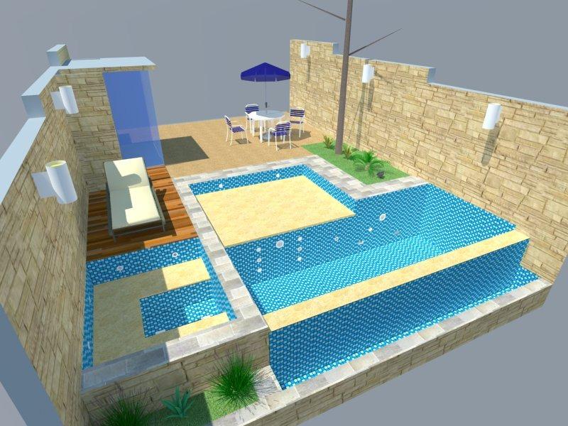 Projeto de piscina com posicionamento das hidr ulicas r for Esquema hidraulico piscina
