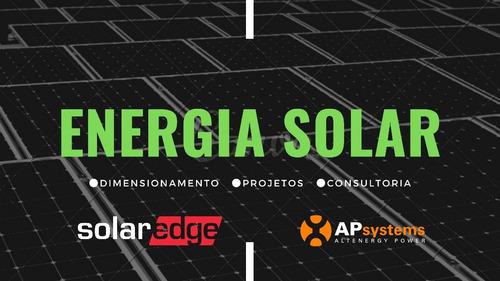 projeto de sistemas fotovoltaicos apsystems e solaredge