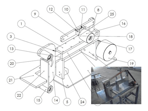 projeto de uma lixadeira de cinta - cutelaria