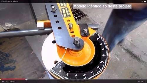 projeto dobradeira calandra de tubo artesanal curva tubo aço