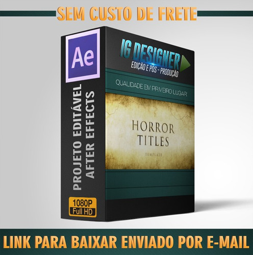 projeto editável after effects horror movie titles
