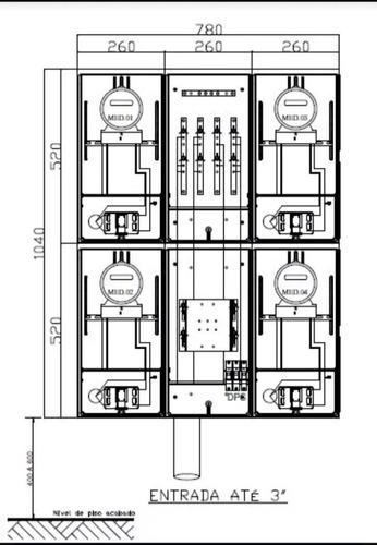 projeto eletrico aprovação liberacão 4 medidores eletropaulo