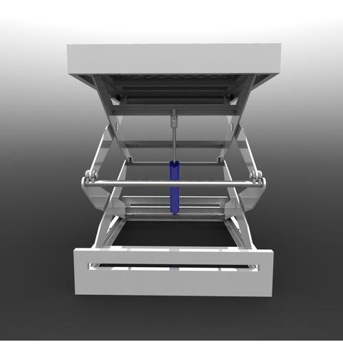 projeto elevador pantografico tesoura dupla
