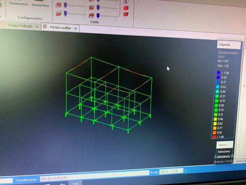 projeto estrutural (valor por m² de área construída)