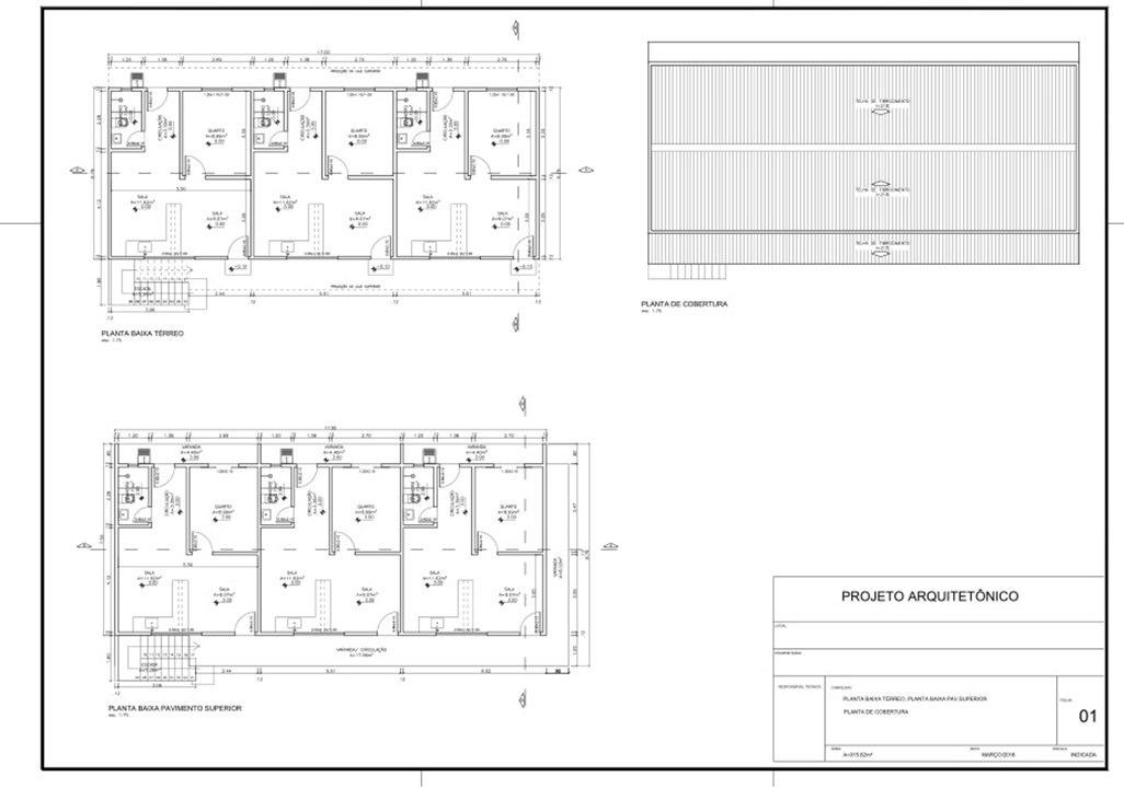 Projeto Kitnet 2 Quartos 2 Andares 8 Unidades - R$ 1.350