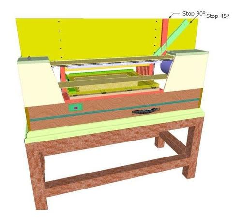 projeto lixadeira de cinta horizontal (area útil 1023 mm)