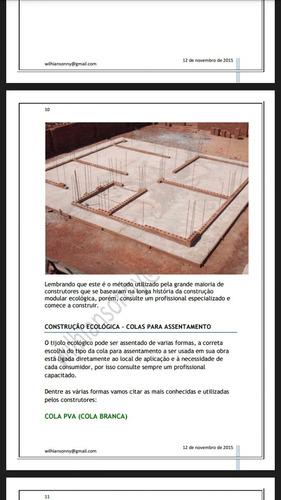projeto manual de como  construir casa tijolo ecológico