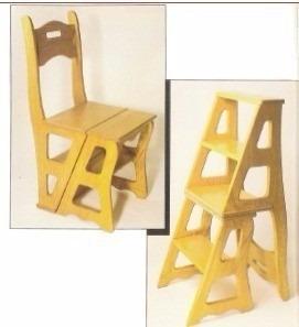 projeto marcenaria cadeira vira escada