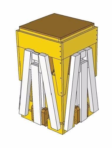 projeto marcenaria mesa com cadeira acoplada piquenique