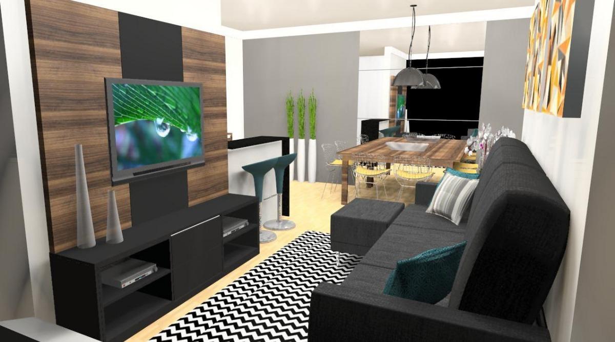Projeto M Veis Planejados Cozinha Sala Quarto Banheiro R  -> Sala Moveis Planejado