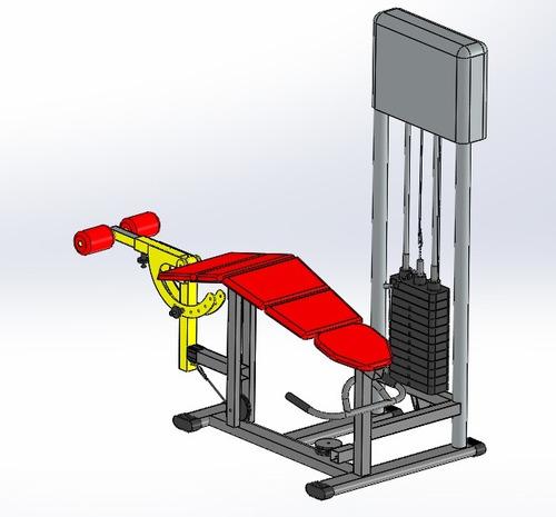 projeto musculação flexora deitado  - envio no email