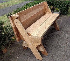 projeto p/ construir mesa que vira banco de madeira ref.111