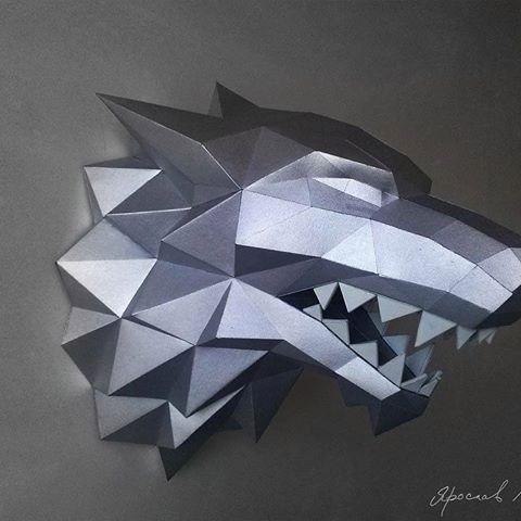projeto papercraft lobo stark game of thrones r 10 00 em mercado