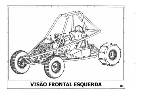 projeto para construir kart cross detalhado português+brinde
