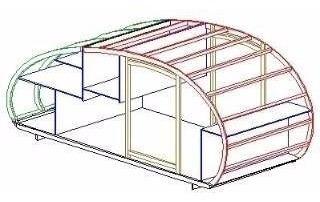 projeto  para fabricação de mini - trailer reboque carro