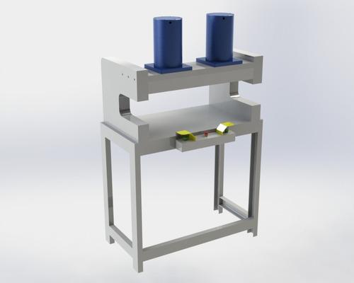 projeto prensa hidraulica 50t 2x = 100t