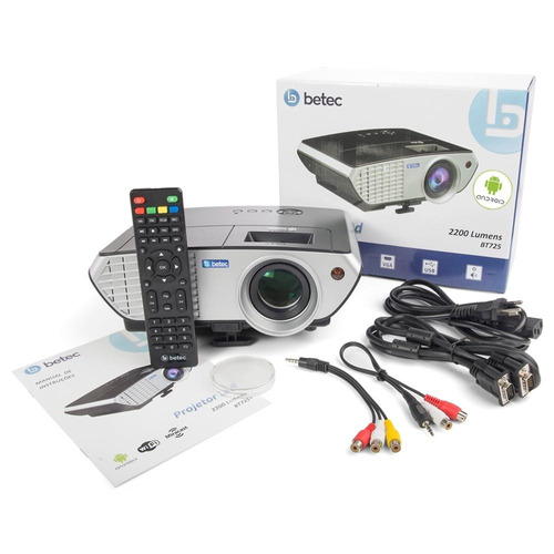 projetor 2200 lumens betec brasil - android pt wifi mini led