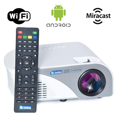 projetor betec bt830+ 1600lumens android wifi