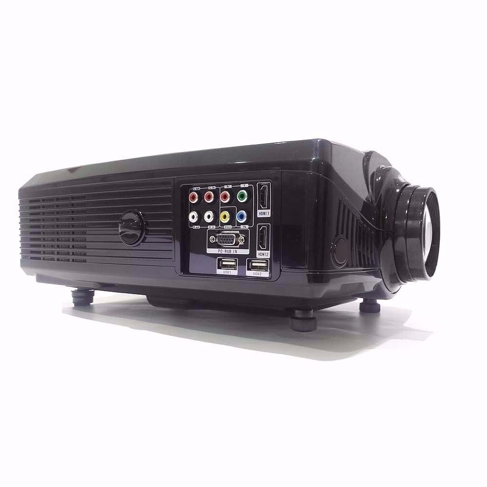 2000 Lumens Full Hd 1080p Led Lcd 3d Vga Hdmi Tv Home: Projetor Datashow Led 2000 Lumens