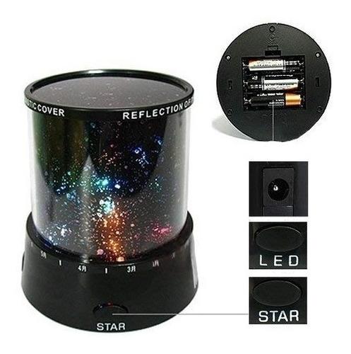 projetor estrelas lua ceu estrelado abajur noite romantica