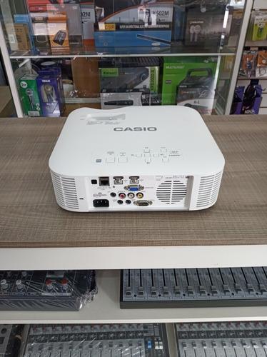 projetor laser led casio 3500 lumens advanced xj f211 branco