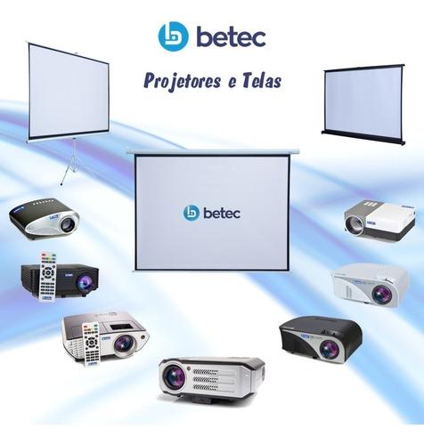 projetor led 2200 lumens betec - hdmi vga av e usb data show