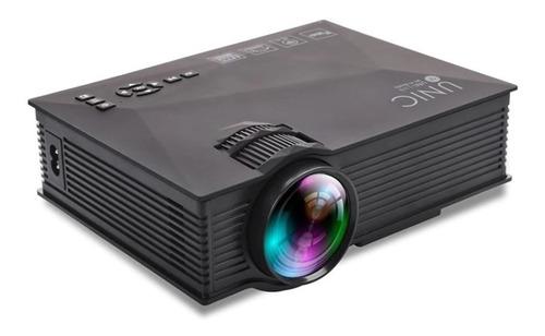 projetor led portátil uc68 1800 lumens pronta entrega
