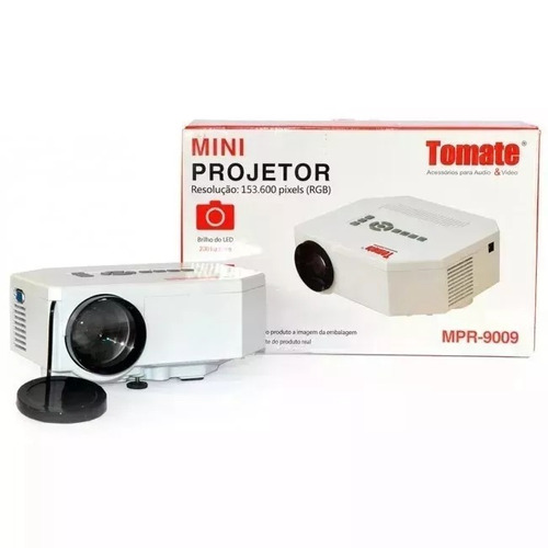 projetor mini tomate mpr-9009 led 200