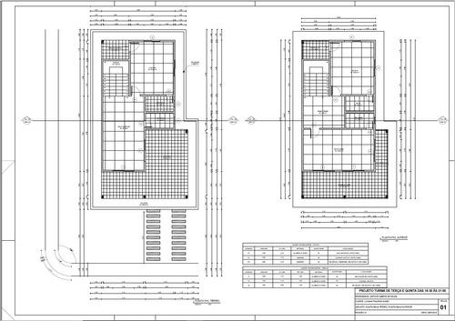 projetos - arquitetônico/hidráulico/elétrico/estrutural