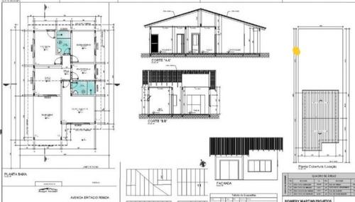 projetos arquitetônicos 5,00 m²