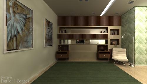 projetos de interiores com medidas e área de elevação
