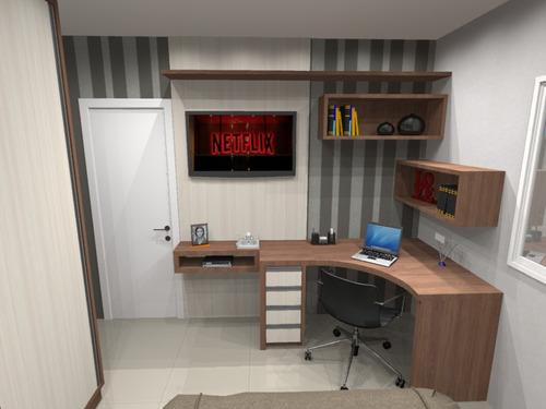 projetos de móveis planejado, ambientes 3d