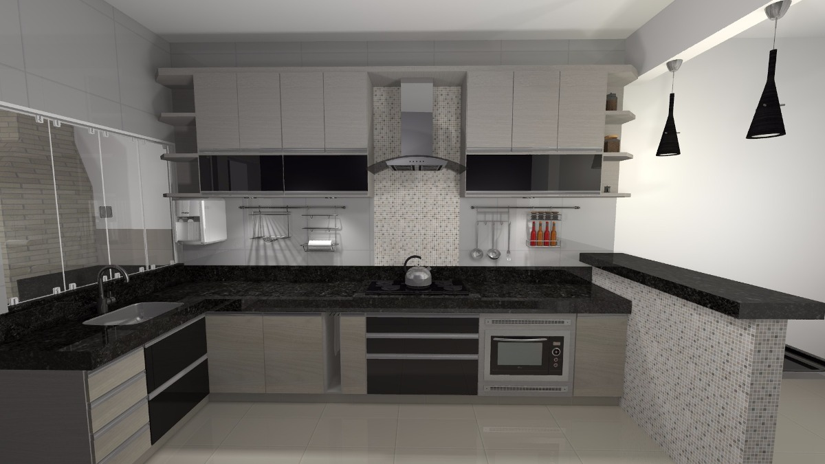 Projetos de moveis planejados em 3d casas 3d faxadas de for Casas 3d