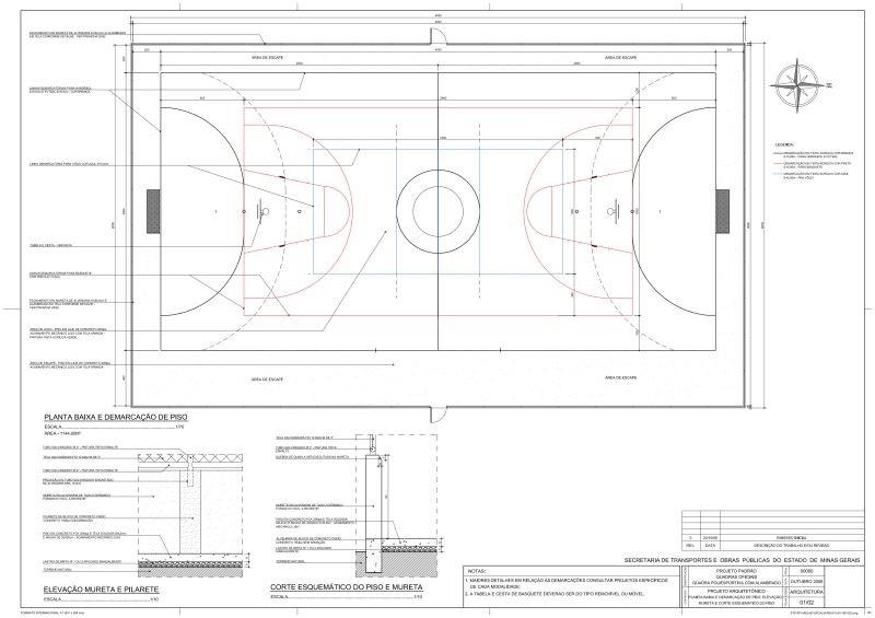 projetos de quadra oficial poliesportiva. Carregando zoom. a30e4e4a011da