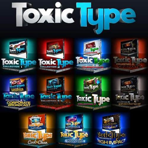 projetos editáveis para after effects - toxic type completo!
