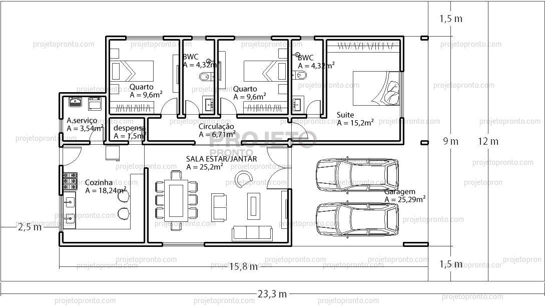 Projetos Prontos Plantas De Casas Guia Auto Cad R 8
