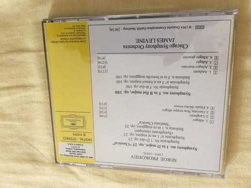 prokofiev sinfonias nos.1 & 5  chicago / levine
