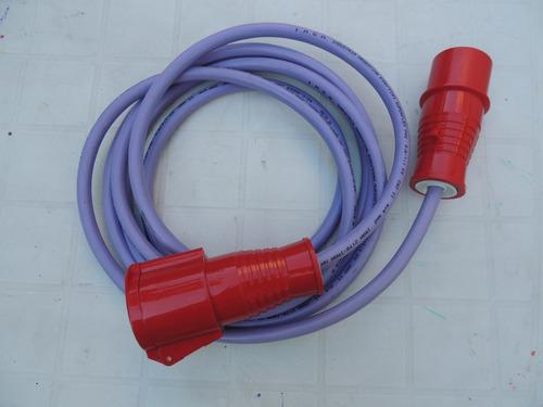 prolongaciones comun trifasicos ficha steck armado de cables