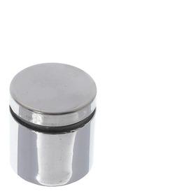 Prolongador Inox Escovado Suporte Vidros Madeira 19x25mm 4un