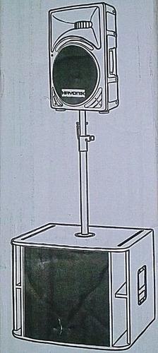 prolongador suporte de caixa de som sub c/2 + 4 copo metal