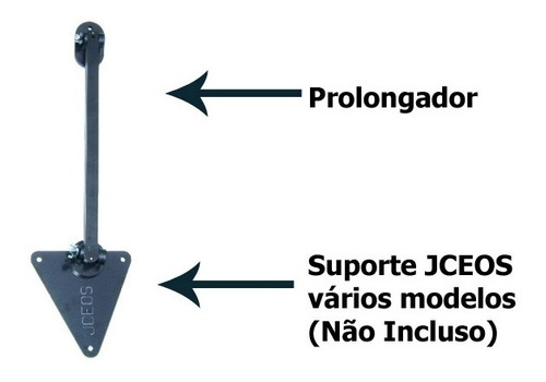 prolongador telescopico extensor suporte jceos para projetor