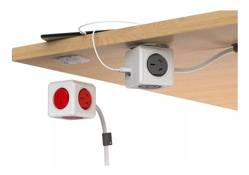 prolongador zapatilla con usb power cube de 3 mts soundgroup