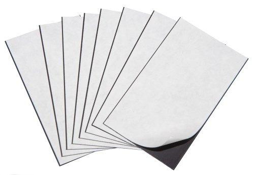 promag 2 x 3-1 / 2 pulgadas adhesivo tarjeta de visita iman
