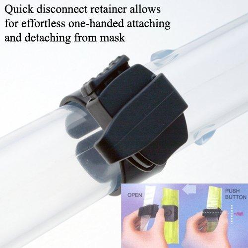 promate nuevo snorkel seco w- signal whistle, t.blue
