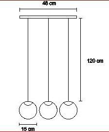 promo 12 cuotas veladores base inoxidable+lampara 3 esferas