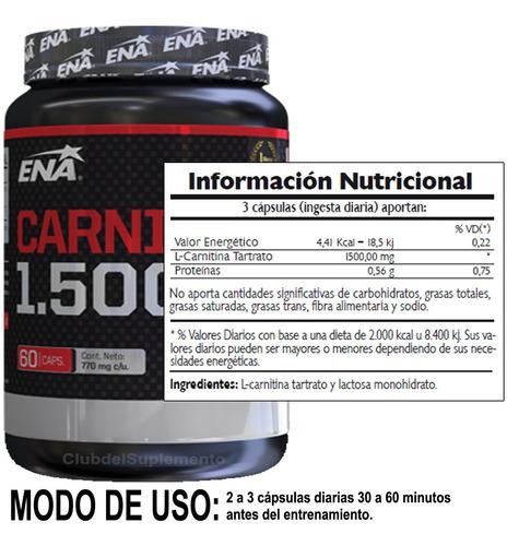 promo 2 carnitina ena quemador de grasa abdominal + dieta